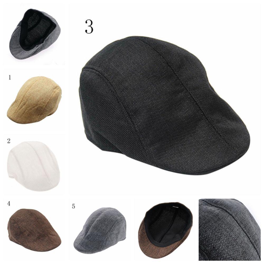 Compre 1 UNIDS Venta Caliente Para Hombre País Golf Sombreros Vintage  Espiga Gorra Plana Enarbolada Montando Sombrero Boina A  33.4 Del Onecherry   58ab0975f10