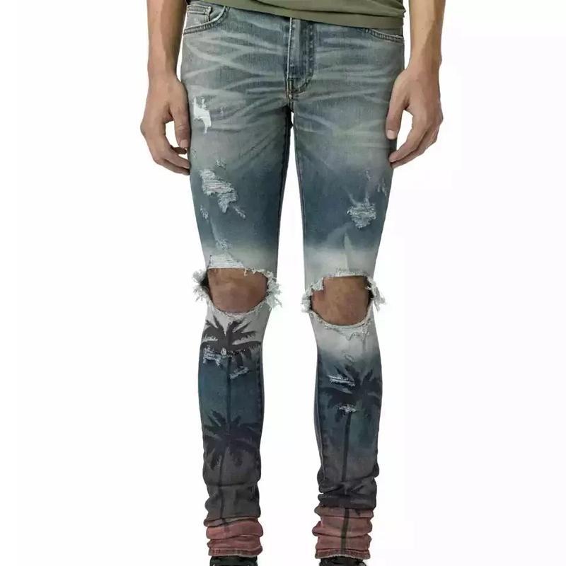 e133cce70dd6 Acquista Uomo Strappato Jeans Strappati Stampa Cocco Moda Jeans Moto Dritto  Causale Foro Pantaloni Denim Streetwear Uomo Donna Jeans HFYMKZ055 A $89.41  Dal ...