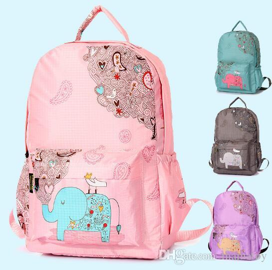 f950a49198c Elephant Backpacks For Kids With Reinforced Straps Polyester Fiber Wear  Resistance of Boys And Girls Unicorn Backpack Girls Fashion Bag Girls Hand  Bag ...