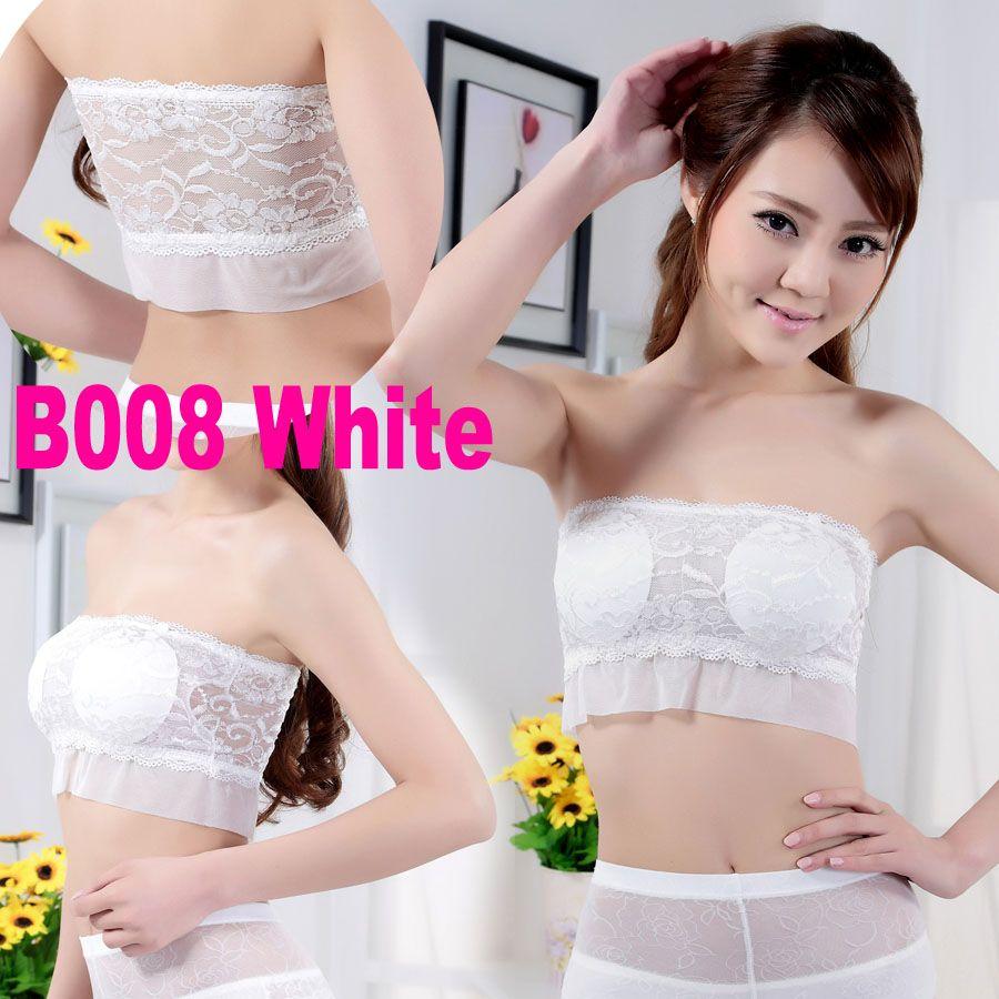 Noir Blanc Femmes Fille Lady Débardeur Camisole Tube Dentelle Sangle Bretelles Crochet Soutien-Gorge Sexy Inner Wear B008