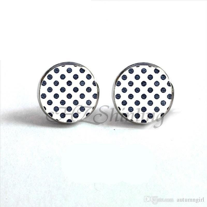24657d847 2019 NES 0048 Polka Dot Earrings Colorful Dots Stud Earring Polka Dots  Glass Dome Earrings For Women From Autumngirl, $9.05 | DHgate.Com