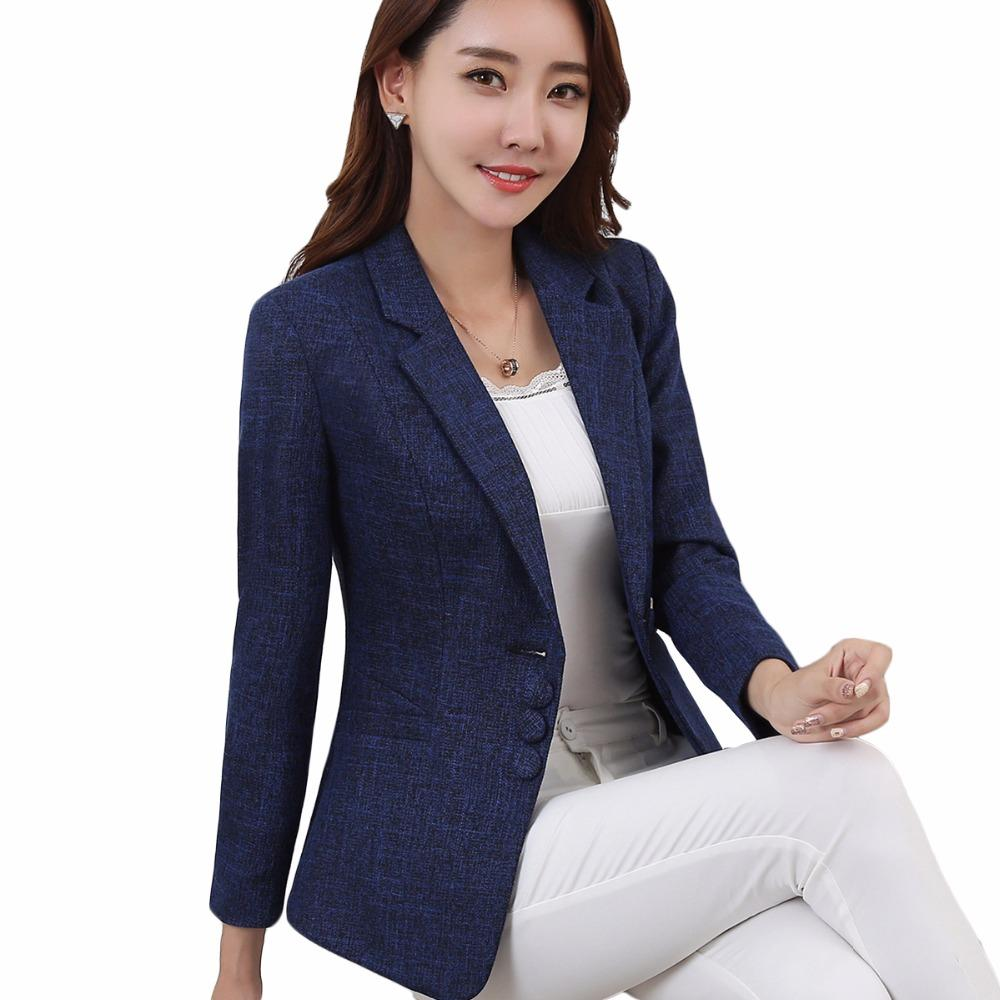 Suits & Sets Flight Tracker Womens Work Jackets Fashion Ladies Formal Puff Long Sleeve Blazer Office Plus Size Blue Black White Suit Blaser Femme