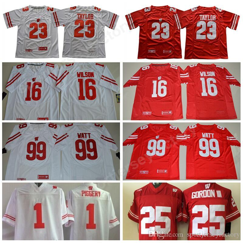 big sale 02820 a36e3 wisconsin badgers 25 melvin gordon iii red jersey