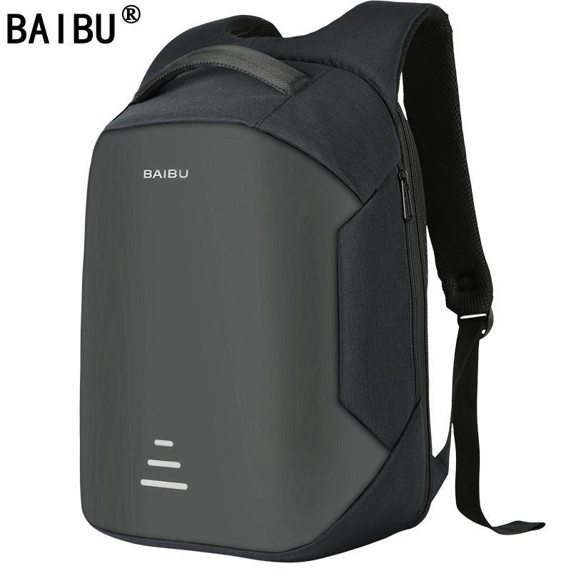 BAIBU NEW Men 15.6 Laptop Backpack Anti Theft Backpack Usb Charging ... 717bc35320