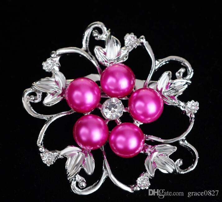 Wedding Brooches Mix 8 Style Silver Pearl Crystal Rhinestone Flower Bouquet Butterfly Vintage Brooch Pins Best Gift