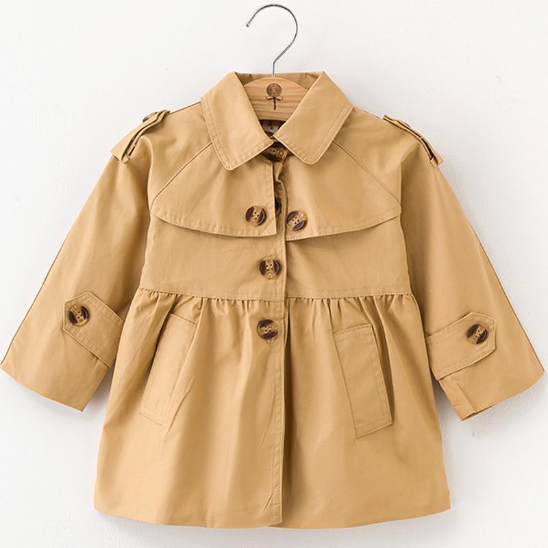 dd46f5b72 Autumn Children Clothing Girls Trench Baby Girl Cotton Kids Double ...
