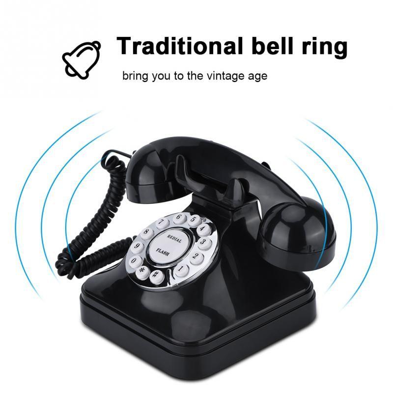 Antique Home Telephone Retro Wire Landline Phone Retro Telephones