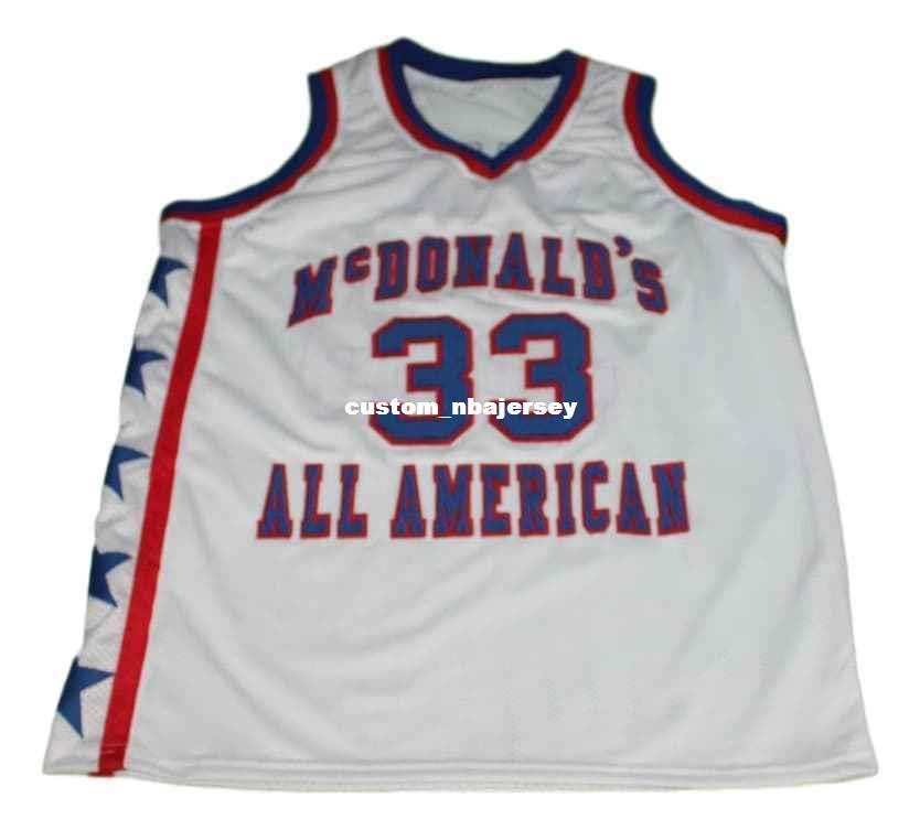 bc8a79bfaab wholesale Shaquille O'Neal #33 McDonalds All American Basketball Jersey  Stitched Custom any number name MEN WOMEN YOUTH BASKETBALL JERSEYS