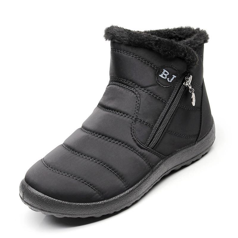 Compre Tallas Grandes 43 Botas De Mujer Botas De Nieve A Prueba De Agua Botas De Invierno De Felpa Gruesa Para Mujer Calzado Tobillo Botas Mujer Zapatos De Invierno De Mujer A
