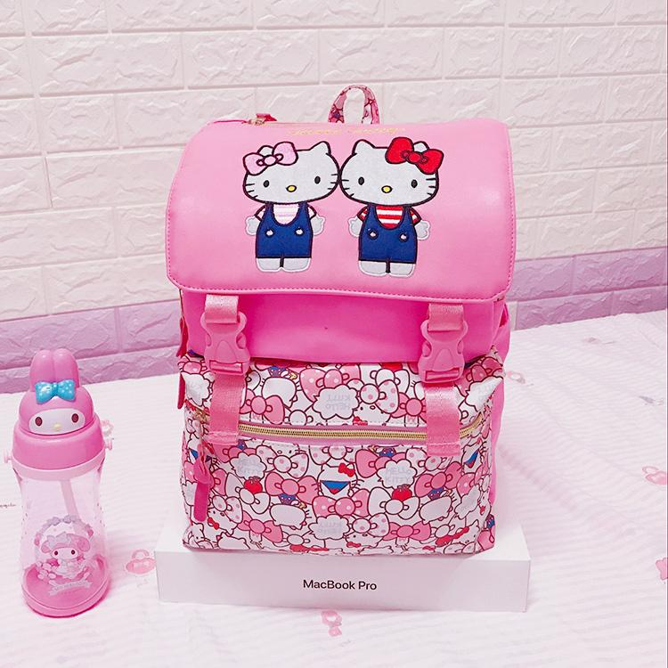 2018 Real Mochilas Backpack For Hello Kitty Big Oxford Students School Bags  Kids Backpack Bag Travelling Shoulder Cute Book Bags Herschel Backpacks  From ... 754bf1f4aad3b