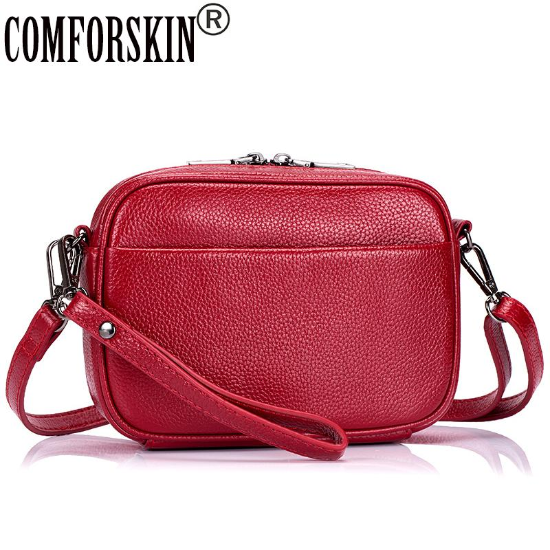 9a379f731f COMFORSKIN Brand Luxury Handbags Women Bags Designer Hot Sales Cowhide  Leather Large Capacity Woman Messenger Bag Fashion Style Cute Purses  Crossbody From ...