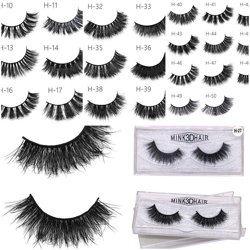 6eed02e5cda New 50 Styles 3d Mink Eyelashes Thick Crossing Sexy False Eye Lashes ...