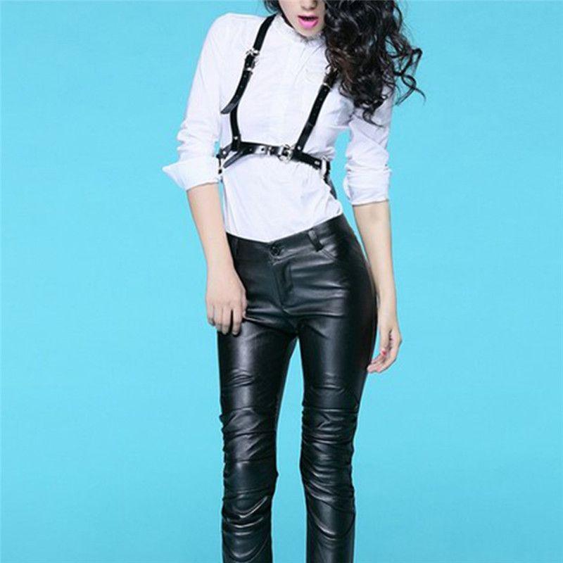 101102a9494 Dark Rock Street Strap Leather Harness Body Waist Belt Straps Adjustable  Buckle Belt Garter Leather Suspenders Men Online Shopping Lumbar Support  Belt From ...