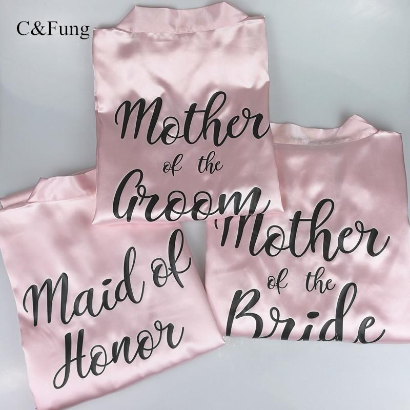 2019 Cfung Personalized Robes Mother Of The Bride Mother Of Groom