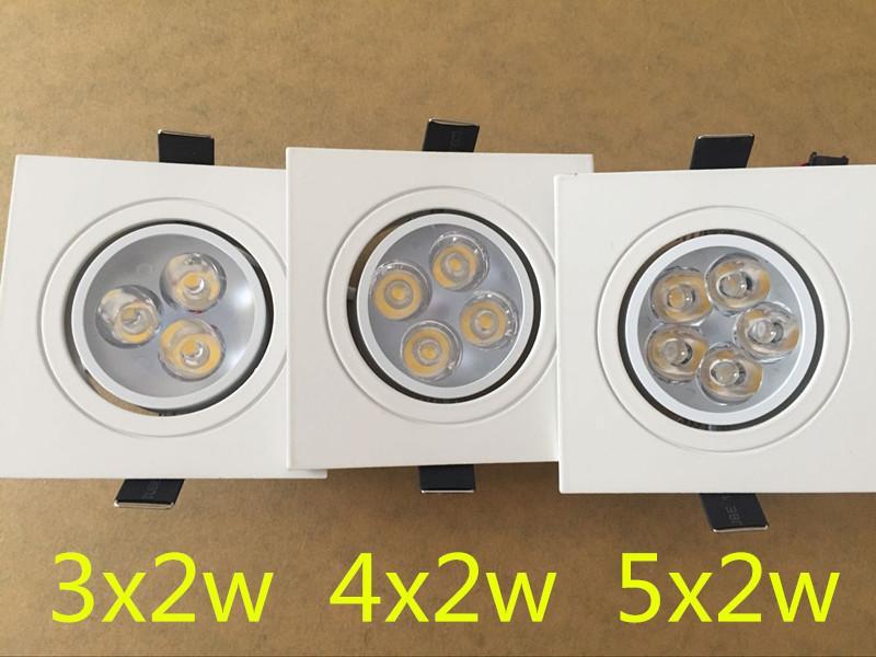 carré Dimmable Led downlight light Plafond Spot Light 6w 8w 10w ac 85-265V plafonnier encastré Lumières Éclairage Intérieur