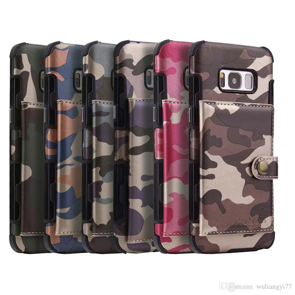 004a83f6d0f4 Camouflage Army Camo Cellphone Case For Samsung Galaxy S8 Plus S9 Card  Holder PU Leather Back Cover For Galaxy S9 Plus Note 9 Purse