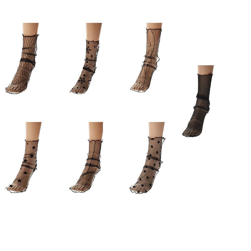 867134232c0 Women Transparent Ultrathin Sheer Mesh Ankle Hosiery Glitter Star Fishnet Socks  Socks Cheap Socks Women Transparent Ultrathin Sheer Mesh Online with ...
