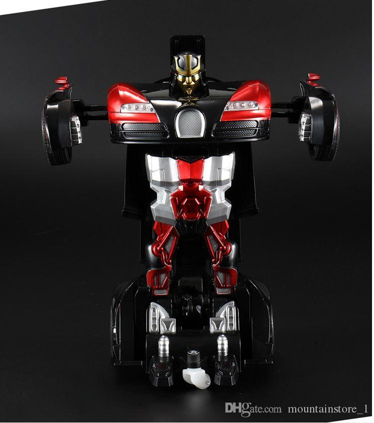 Top Sports Car Models Deformation Robot Transformation Remote Control RC Car Toys for Kids Christmas Gift