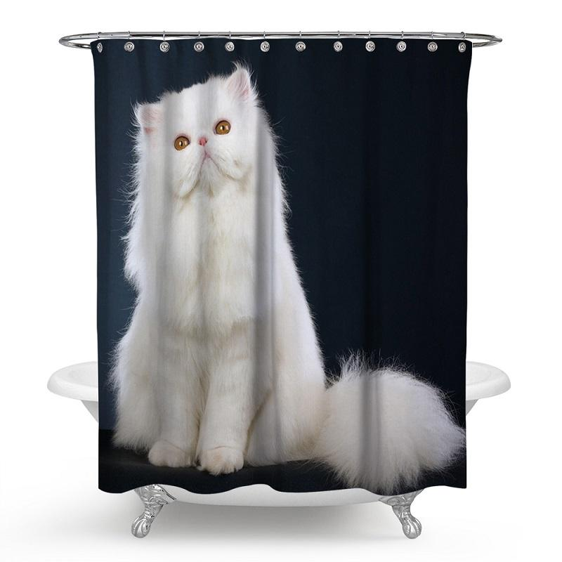 Cute Cat Shower Curtains Rideau De Douche Cortina De Ducha Bathroom  Supplies Products HK082 Shower Curtains Cheap Shower Curtains Cute Cat  Shower Curtains ...