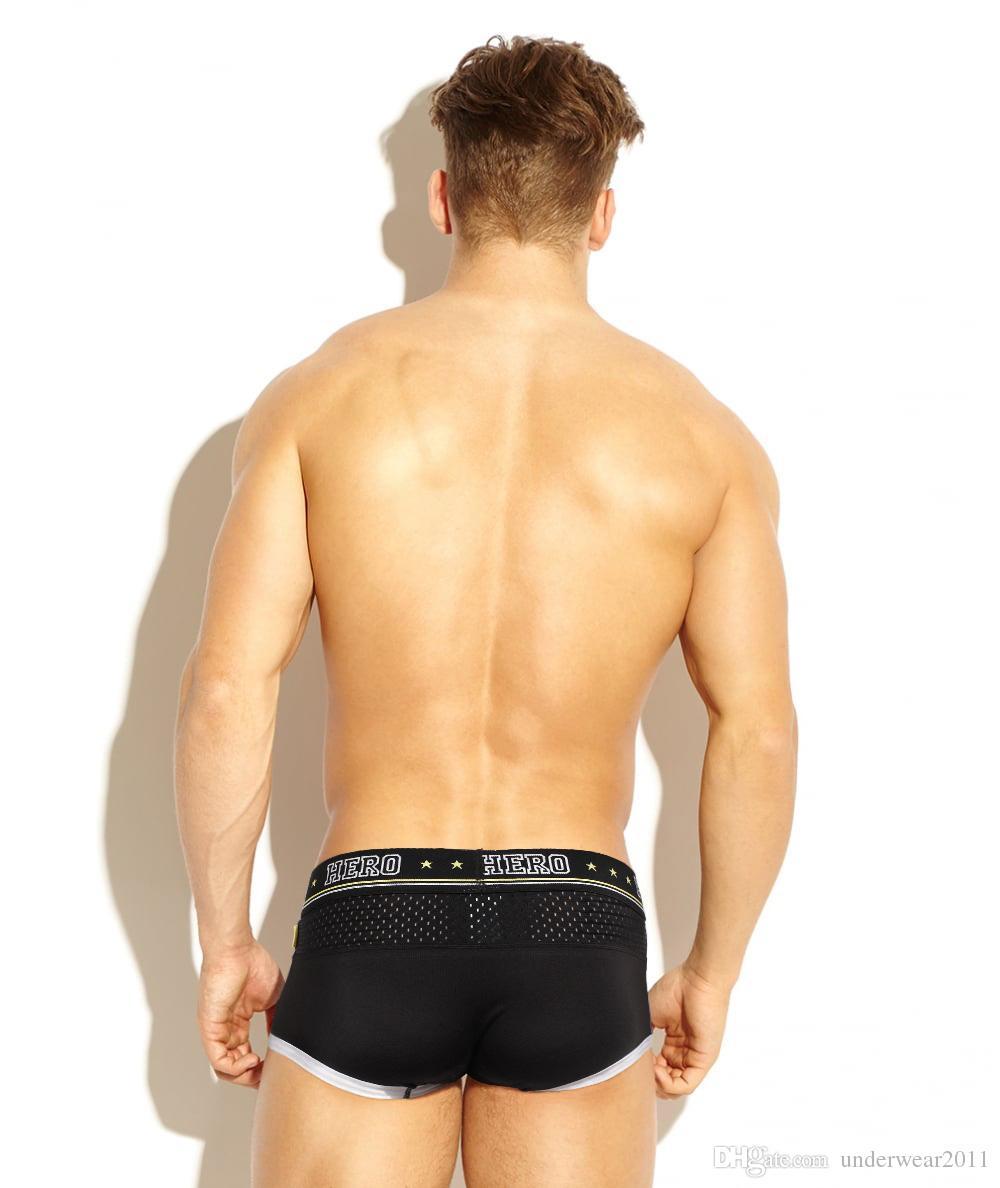 1270 Großhandel PINKHERO Mens Unterwäsche Eis Seide Mesh Boxer Shorts Verkäufer M L XL XXL Kostenloser Versand Mischungsauftrag