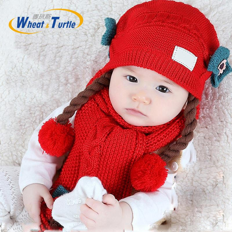 c3807b076df 2019 Mother Kids Baby Clothing Accessories Hats Caps Knitted Winter Warm  Caps And Scarf For Infant Baby Girls Children Neck Warm Cap From Yohkoh