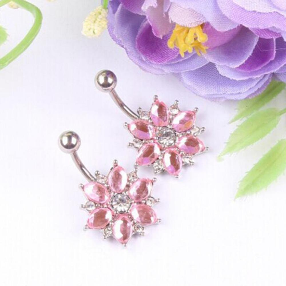 Imixlot 2017 Body Jewelry Hot Brand 14g Dangle Belly Button Rings 1.6mm Barbell Sexy Surgical Steel Piercing Navel Chirurgisch