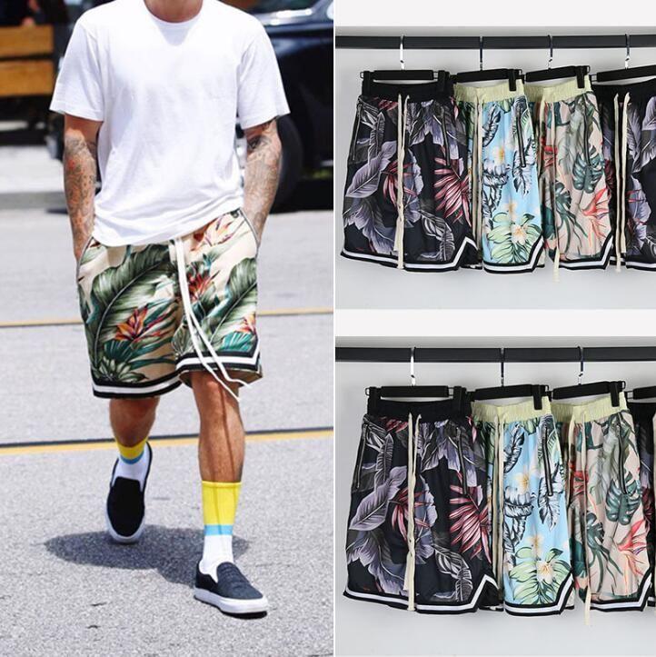 1257b33e7eb3 Fashion Brand Kanye West Mens Women Floral Shorts Justinbieber JUNGLE Casual  Shorts Justin Bieber Short Pants Fitness Mens Clothing Mens Women Floral  Shorts ...