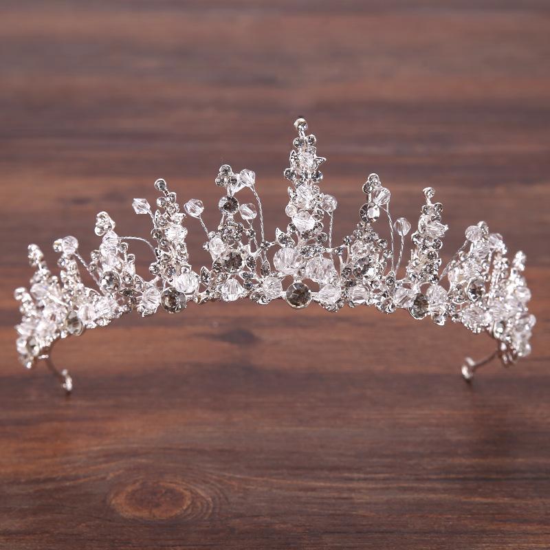 Lüks Kristal AB Gelin Taç Tiaras Işık Altın Kadınlar için Diadem Tiaras Gelin Düğün Saç Aksesuarları