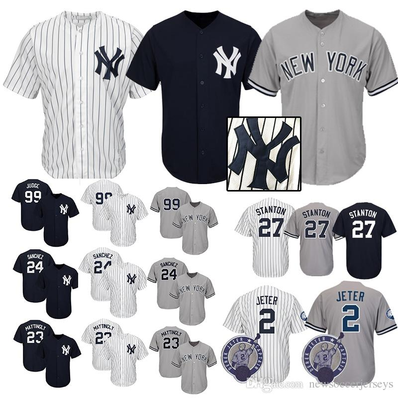 dea17ab5174 ... cheapest 2018 new york yankees jersey mens 99 aaron judge 23 don  mattingly 3 babe ruth
