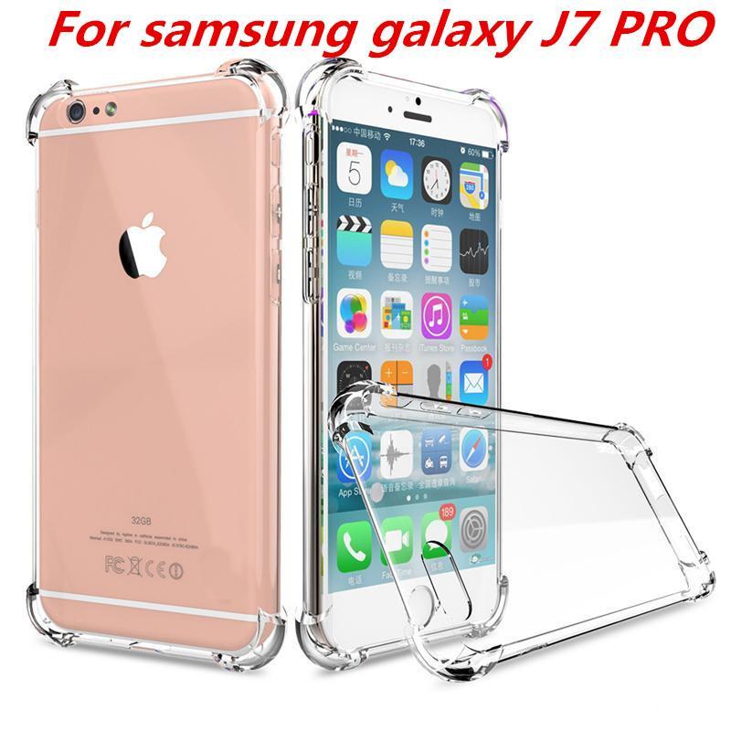 check out f9bd2 c1b9a Shockproof Transparent Case For Samsung Galaxy J7 Pro J730 Galaxy J5 Pro  J530 Galaxy J3 Pro Soft TPU Case Clear Back Cover