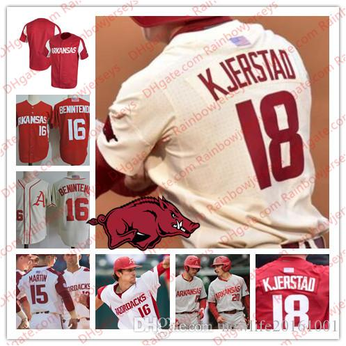 524d90890 NCAA Arkansas Razorbacks  18 Heston Kjerstad 15 Casey Martin 20 ...
