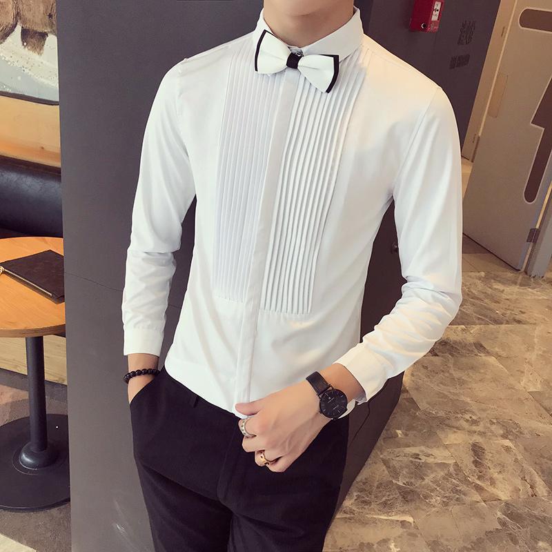 Rayas Compre Hombres Social 2018 Blancas Negra A Camisa qwwt7a