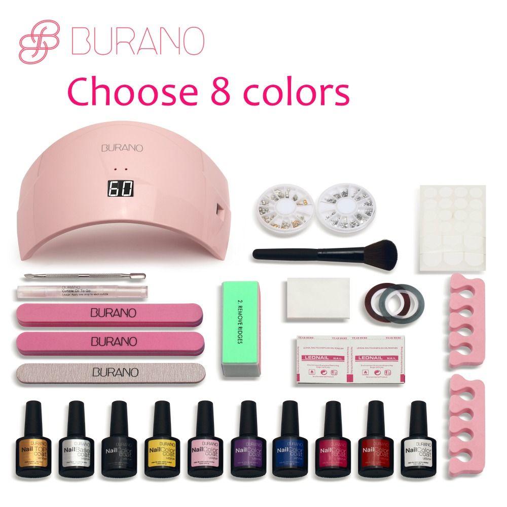 Burano New Arrival Hot Sale Soak Off Gel Polish Gel Nail Kit Nail ...