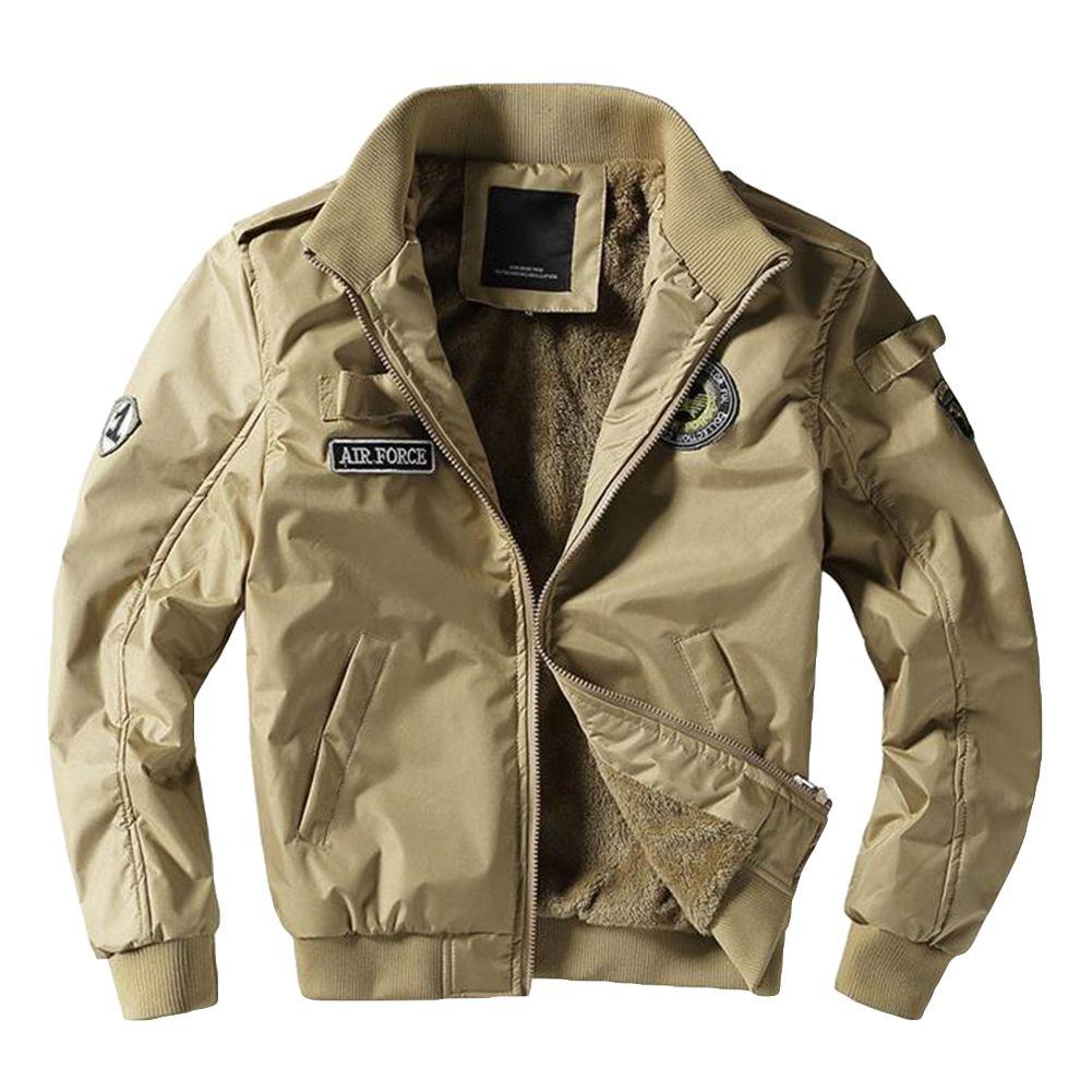d56e21531c8c Winter Fashion Faux Fur Long Sleeve Zipper Pocket Coat Men Warm ...