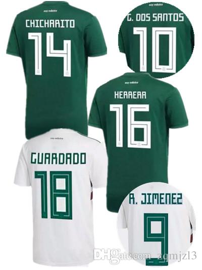 bc0d4bdc515 2019 New 2018 Mexico Soccer Jersey Home Away 18 19 Mexican CHICHARITO G DOS  SANTOS C.VELA Football Jerseys Shirts SIZE S XL From Zqmjzl3