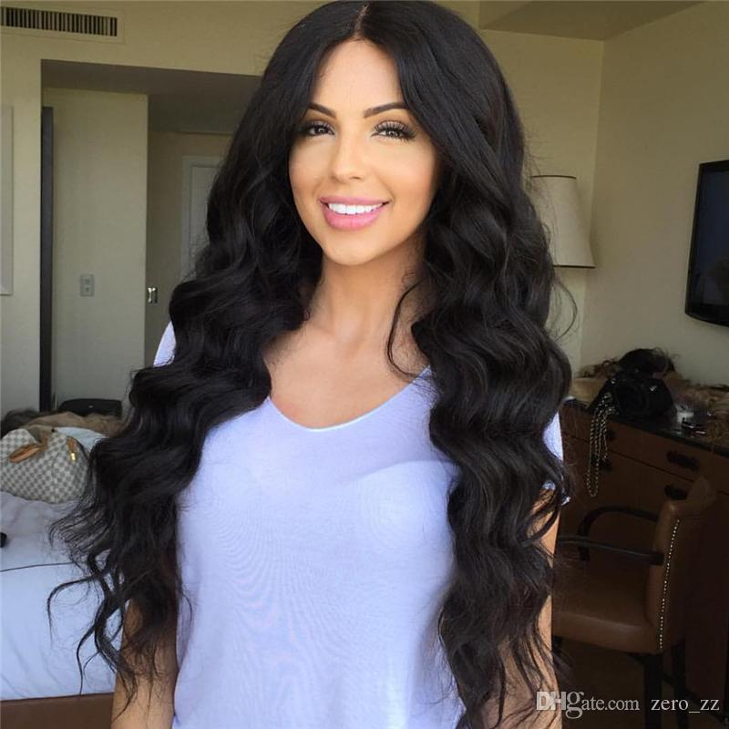 Long Body Wave Lace Front Human Hair Wigs With Baby Hair Heat Resistant Glueless Brazilian Full Lace Wigs for Black Women