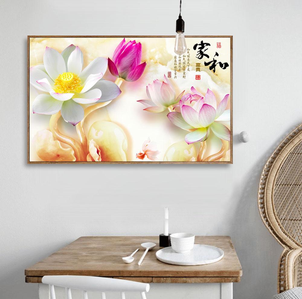 Großhandel Lotus Flower Nordic Bild Chinesischen Stil Malerei Auf
