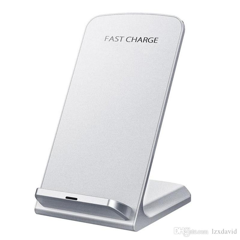 Fast Qi Wireless Charging Stand Pad for iPhone X 8 8 Plus Samsung S9 S8 S7 S6 Note 5 Note 8 Smartphones