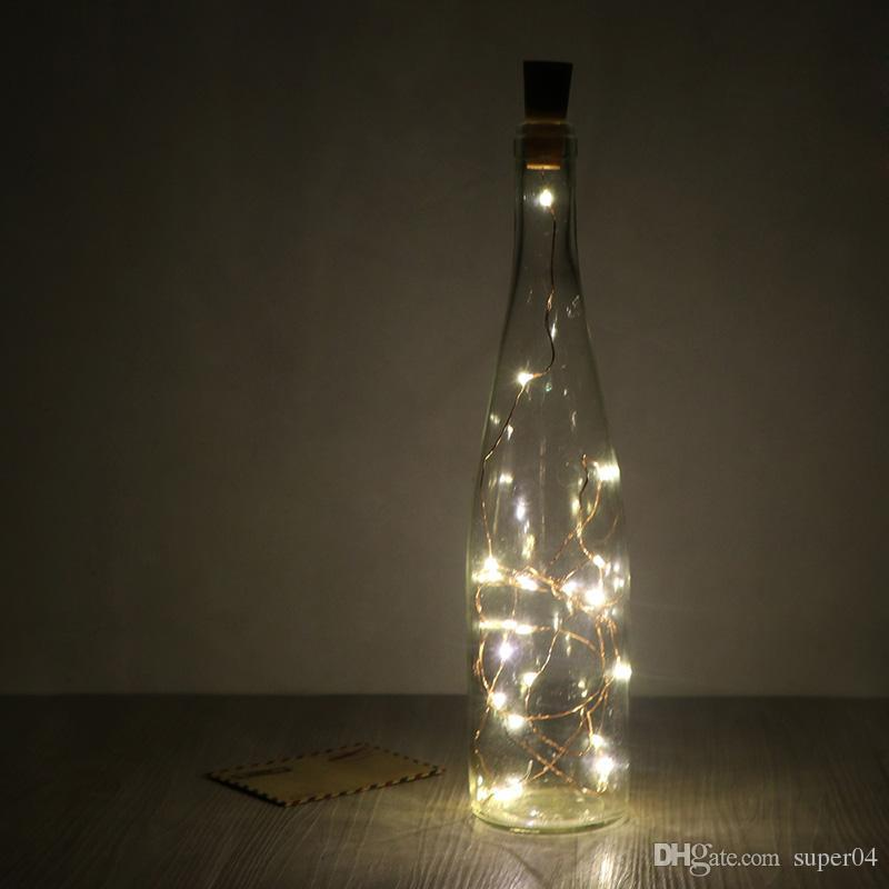2m/6.5ft 20 Led Copper Wire String Light With Bottle Stopper For ...