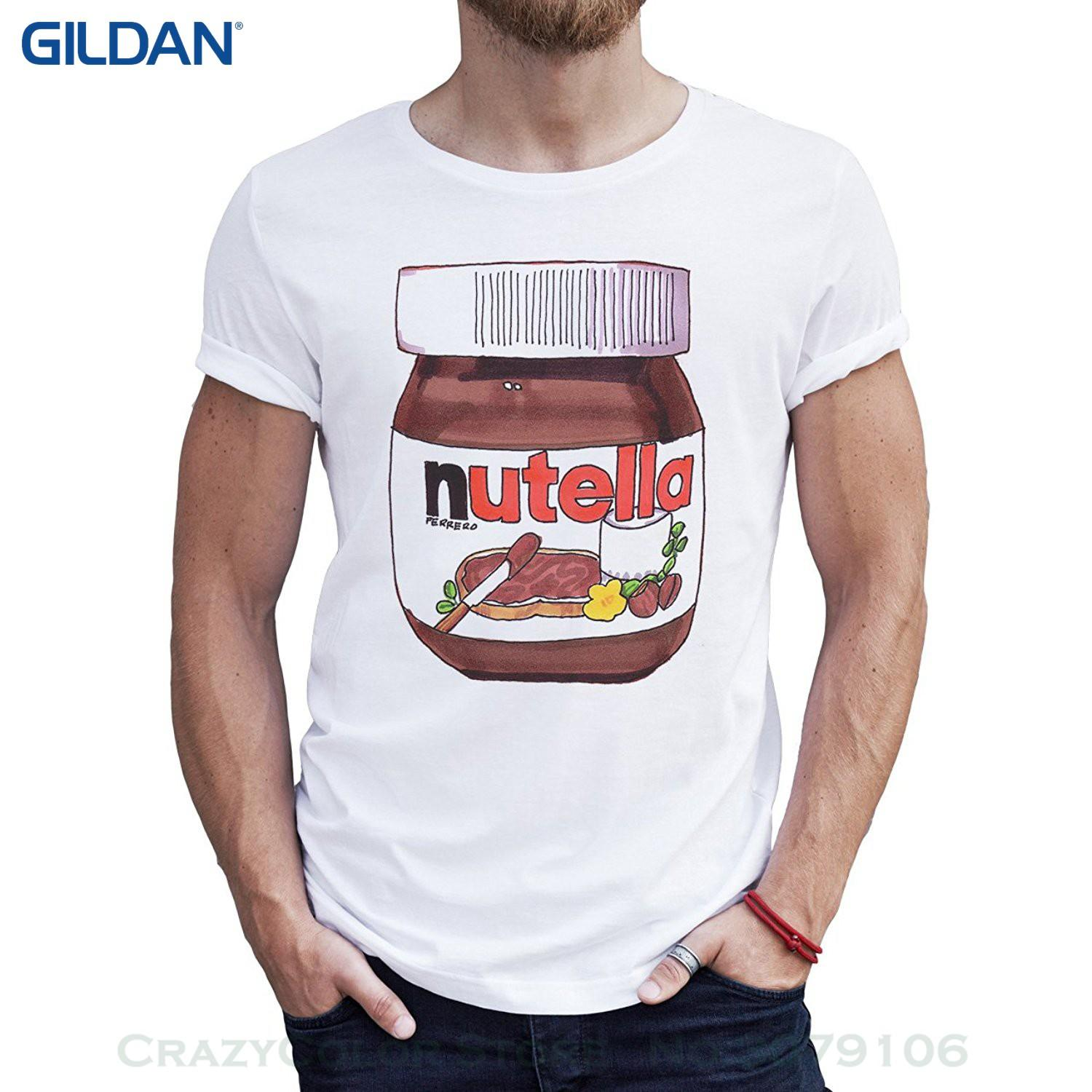 47fa0bf19 100% Cotton T Shirts Brand Clothing Tops Tees Nutella Jar Drawing Realistic  Like In Your Fridge Quality Mens T Shirt 24 Hour T Shirt Rude Tshirts From  ...