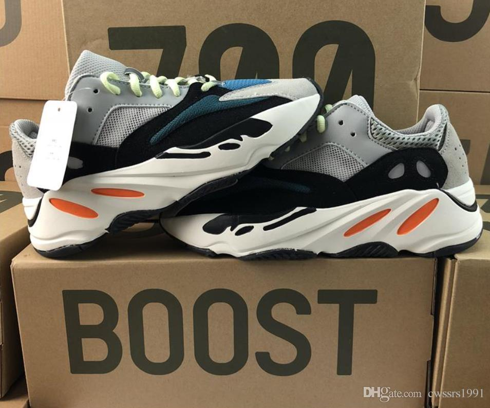 the latest 06a4b 665c8 With Box Kanye West 700 Boost Design Classic Running Shoes With Wave Runner  700 Boosts Sports Shoes Fashion Sneaker