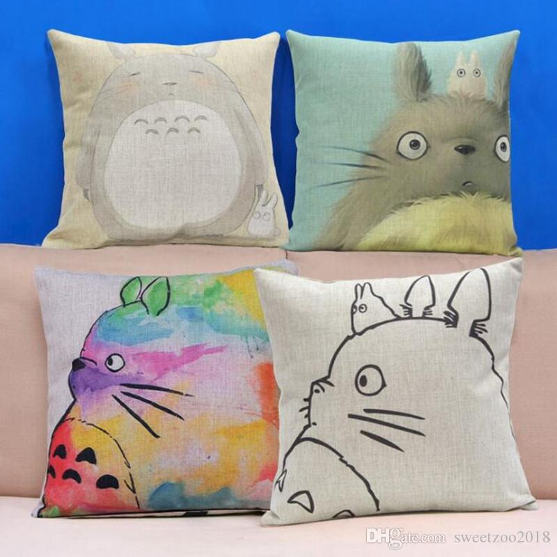 Cute Cartoon Totoro Pillowcase Covers Throw Pillows Home Decorative Simple Pillow Case Covers For Throw Pillows