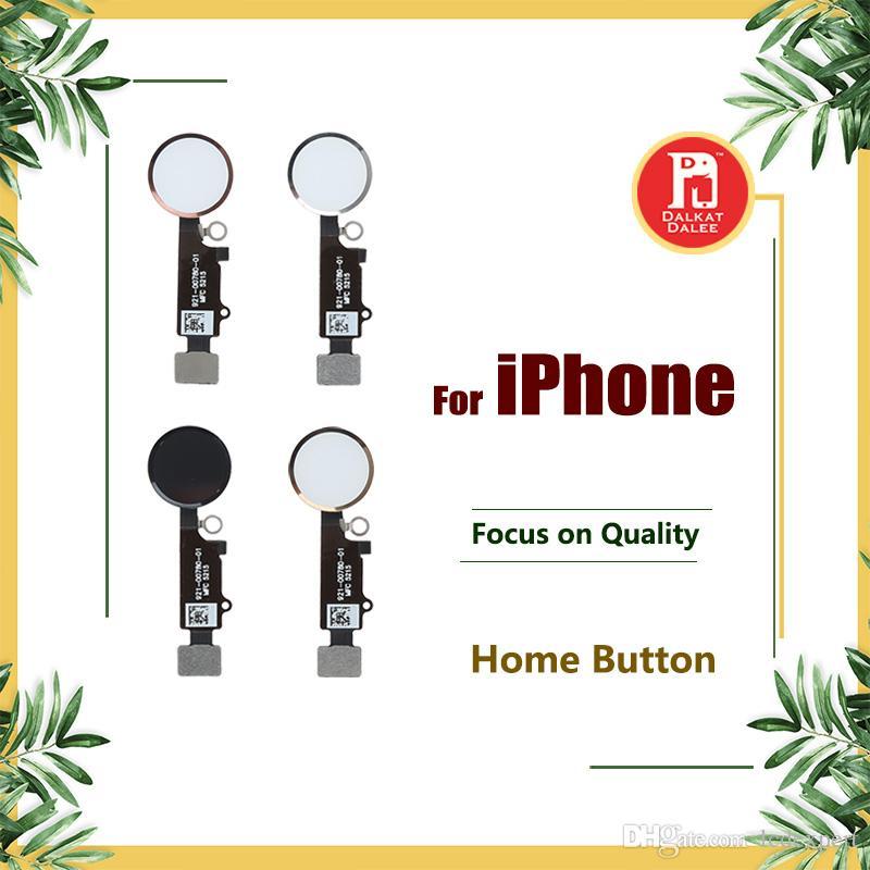 Pour iPhone 5 5S 5C SE 6 6plus 6S PLUS 7 8 Plus Bouton Accueil Câble Flex Noir Blanc Or Rose Assemblage