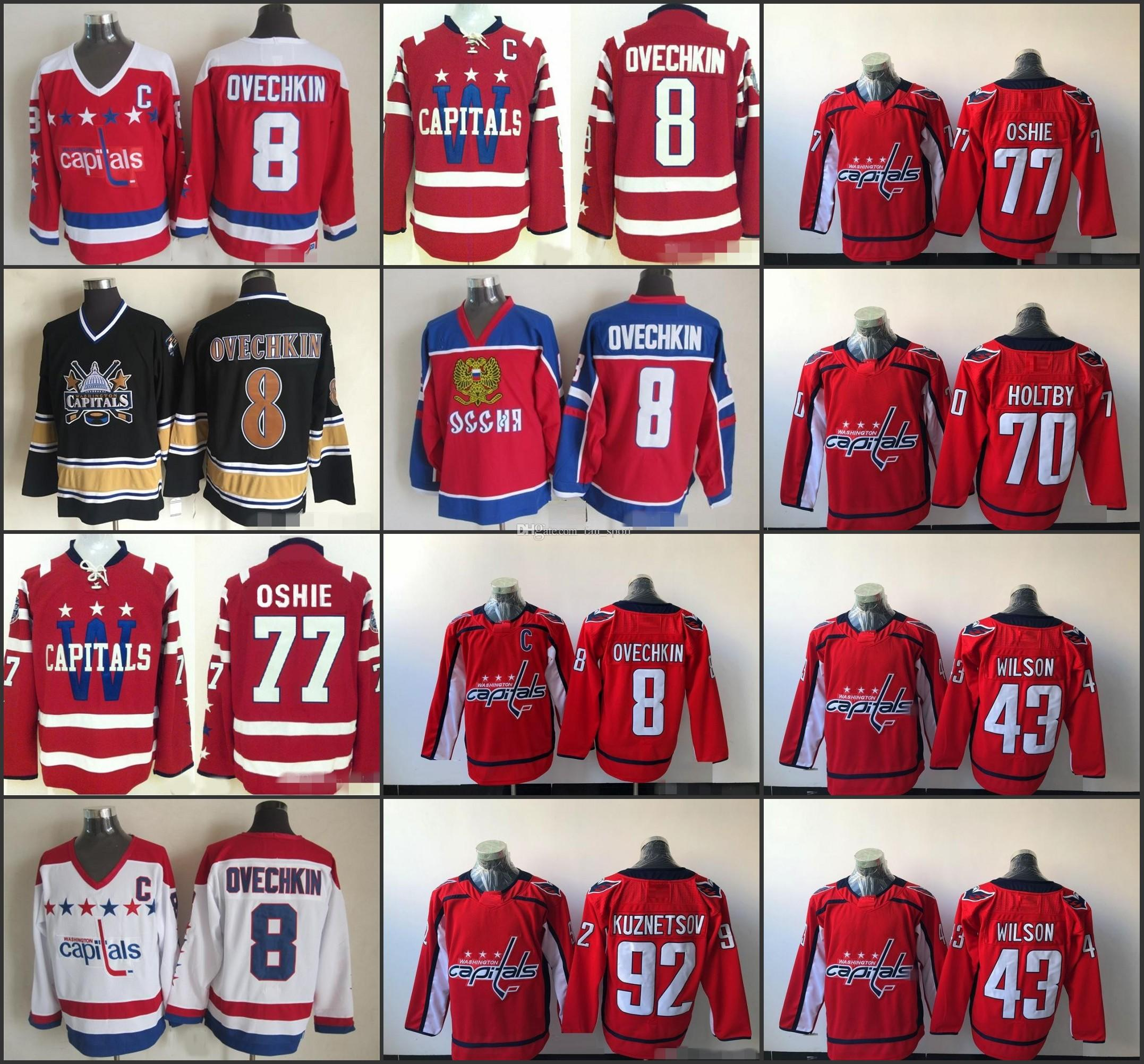 2019 2015 Washington Capitals Winter Classic Hockey Jerseys 8 Alex Ovechkin  77 TJ Oshie 92 Evgeny Kuznetsov 70 Braden Holtby Tom Wilson Jerseys From ... 2106e6efc