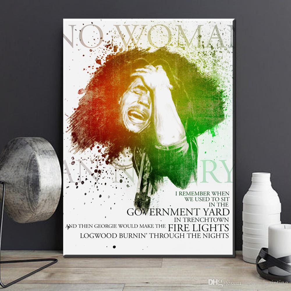 Bob Marley Quotes Wall paper Quotes Poster Wall Art Wallpaper Home Decoration art prints No Frame