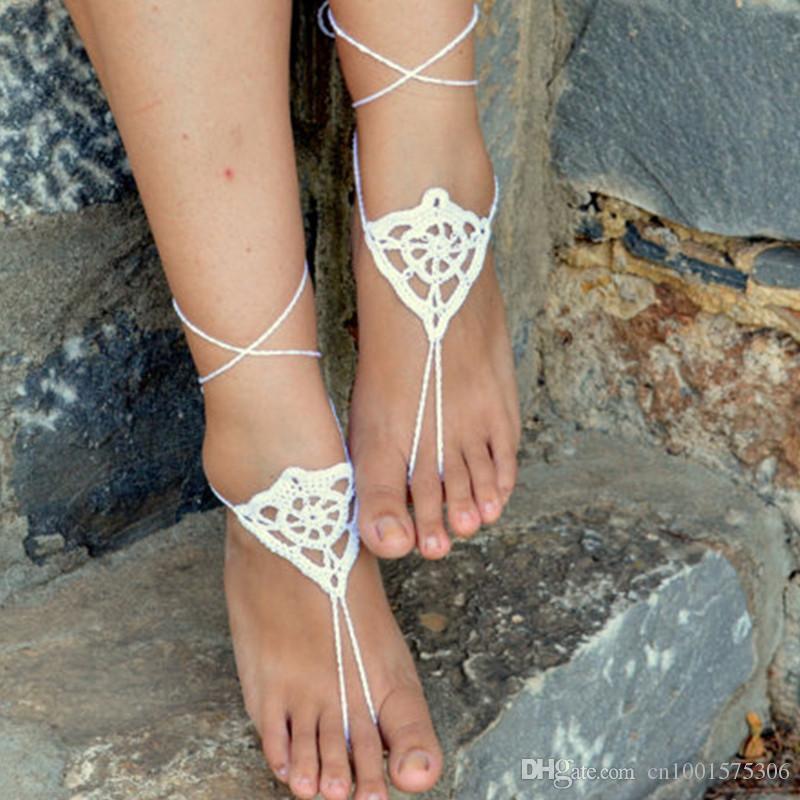 Crochet Women Shoes, Lolita beach wedding sandals, Bridesmaids Gifts, Bridal, Bridesmaids, Summer, Beach, Shower Favo, Accossories for Wome