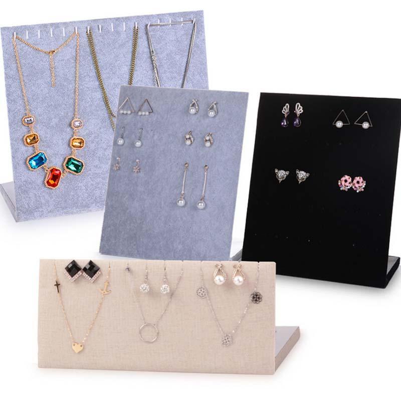 Trumpet Display Shelf Board Pin Ear Ring Jewelry Display Stand Earring Holder Jewelry Box Store Shelf Rack
