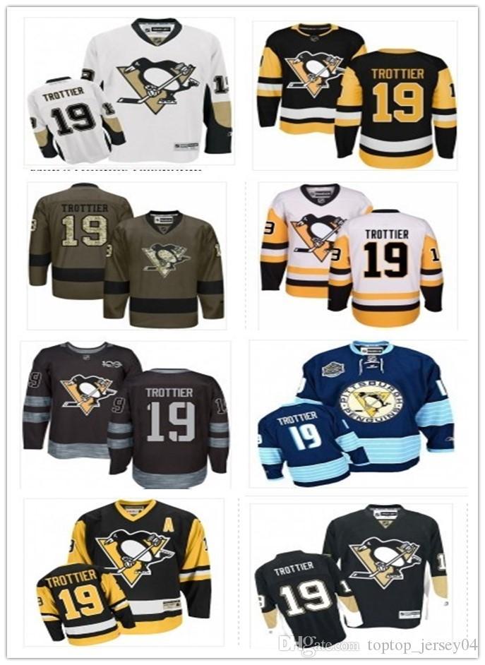 Großhandel 2018 Pittsburgh Penguins Trikots   19 Bryan Trottier Trikots  Männer   Women   Youth   Männer Baseball Trikot Majestic Genäht Professional  ... 079c8c320