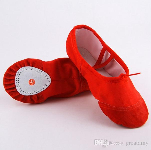 20 sizes child adult canvas ballet dance shoes slippers pointe dance gymnastics ballet dance shoes for kids adult