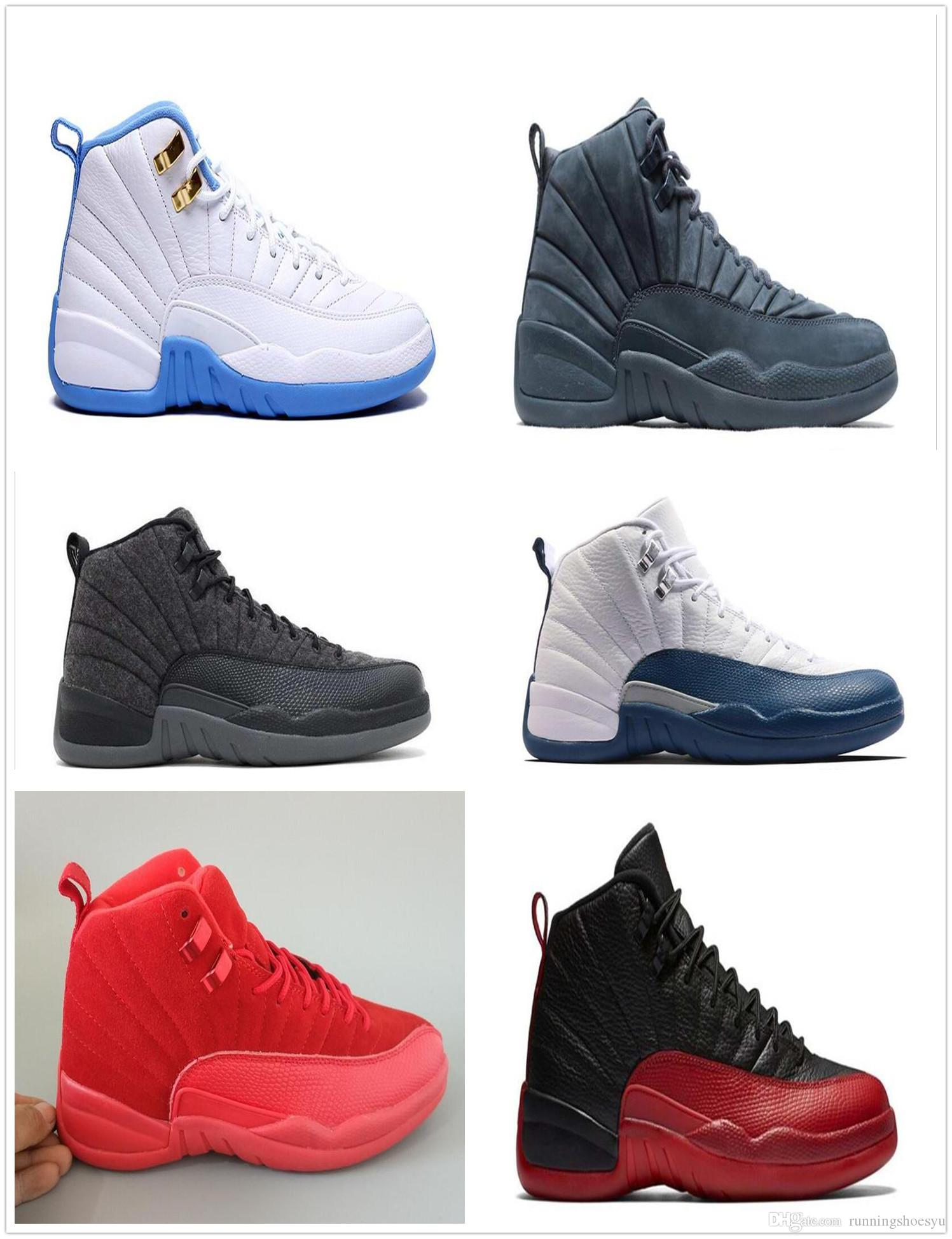 2017 man 12 high quality Basketball Shoes for mens, taxi playoffs Gamma Blue black sport 12s Sneakers shoe